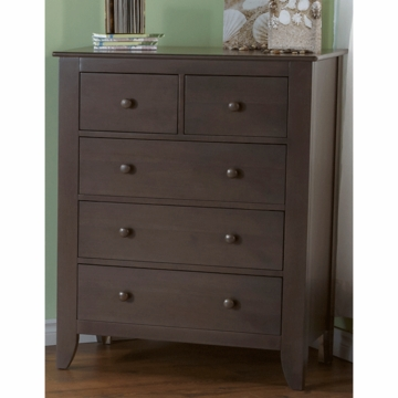 Pali Salerno 5 Drawer Dresser in Slate