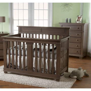 Pali Torino 2 Piece Nursery Set in Slate - Crib & 5 Drawer Dresser