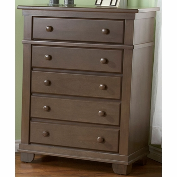 Pali Torino Series 5 Drawer Dresser in Slate