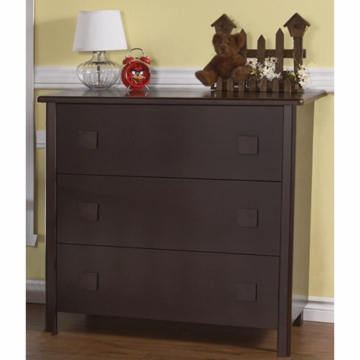 Pali Tosca 3 Drawer Dresser in Mocacchino