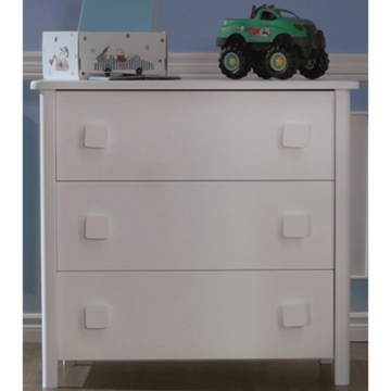 Pali Tosca 3 Drawer Dresser in White