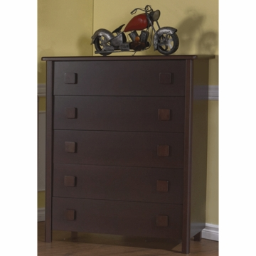 Pali Tosca 5 Drawer Dresser in Mocacchino