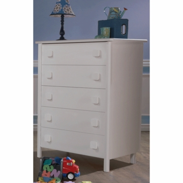Pali Tosca 5 Drawer Dresser in White