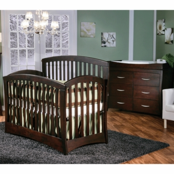 Pali Trieste 2 Piece Nursery Set in Mocacchino - Forever Crib & Double Dresser