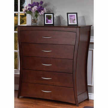 Pali Trieste 5 Drawer Dresser in Vintage Cherry