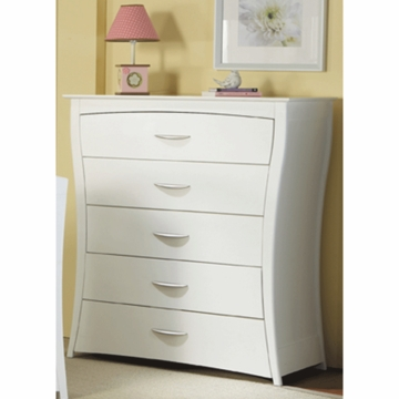 Pali Trieste 5 Drawer Dresser in White