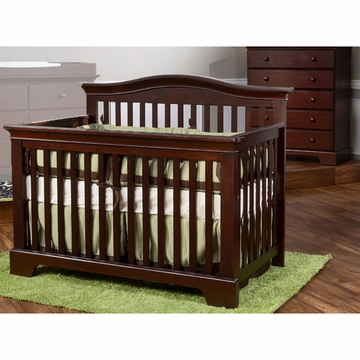 Pali Volterra 2 Piece Nursery Set in Vintage Cherry - Crib & 5 Drawer Dresser