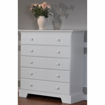 Pali Volterra 5 Drawer Dresser in White