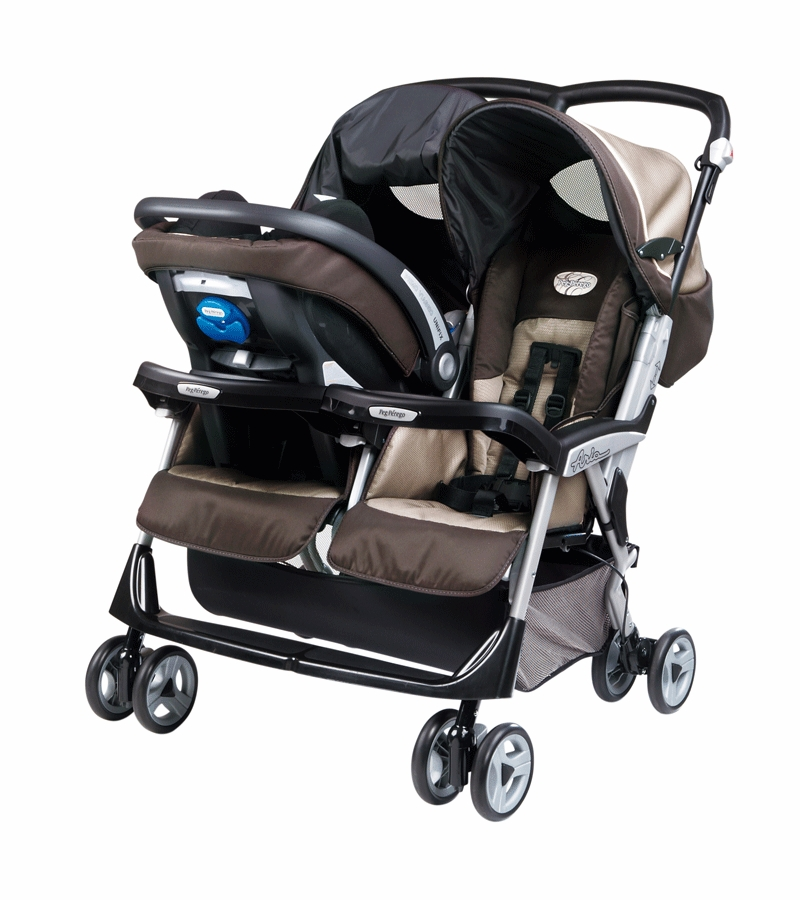 Peg Perego Aria Twin 60 40 Double Stroller In Java