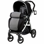 Peg Perego Book Plus Stroller in Stone (Black)