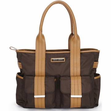 Perry Mackin Zoey Diaper Bag in Brown