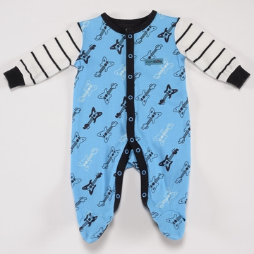 Petit Lem Knit Footie Sleeper - Guitar - 9 Months