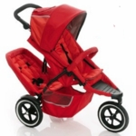 Phil and Teds Dash Double Stroller Red With Doubles Kit