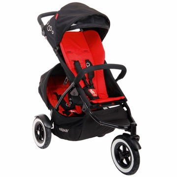 Phil & Teds Dot Double Buggy - Chilli