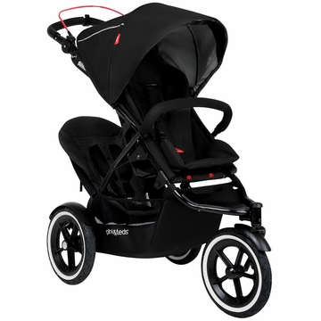 Phil & Teds Navigator 2 Buggy with Doubles Kit - Black