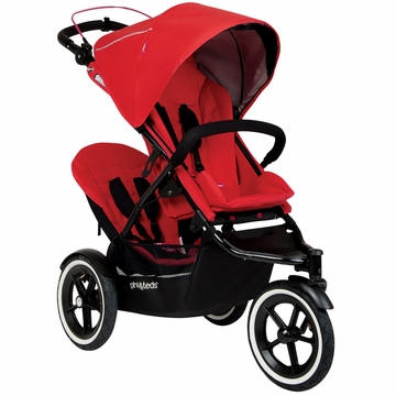 Phil & Teds Navigator 2 Buggy with Doubles Kit - Cherry