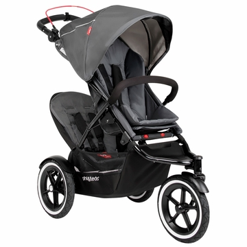 Phil & Teds Navigator 2 Buggy with Doubles Kit - Graphite