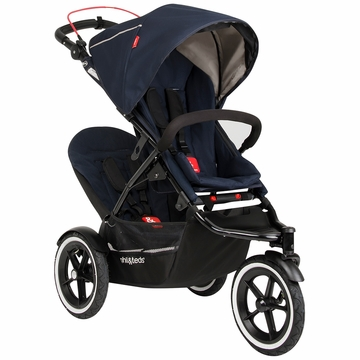 Phil & Teds Navigator 2 Buggy with Doubles Kit - Midnight Blue