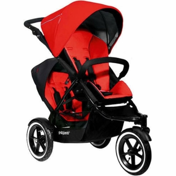 Phil & Teds Navigator Double Buggy - Cherry
