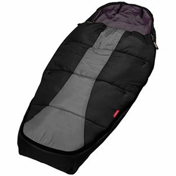 Phil & Teds Snuggle & Snooze Sleeping Bag - Black & Charcoal