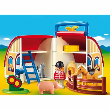 Playmobil 1.2.3 Take Along Barn