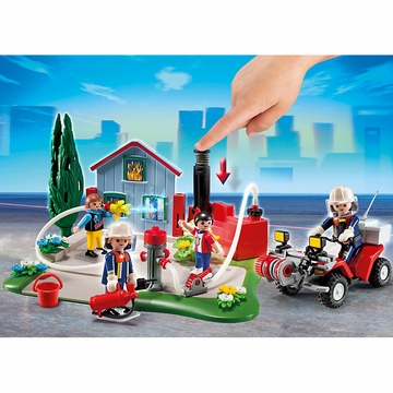 Playmobil 40th Anniversary Fire Rescue Operation Compact Set & Quad