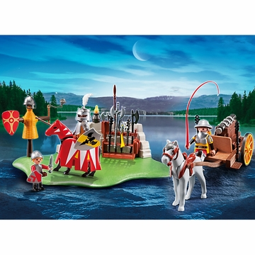 Playmobil 40th Anniversary Knight's Tournament Compact Set & Cannon Wagon