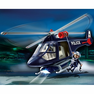 Playmobil Police Helicopter with LED Spotlight