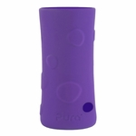 Pura Stainless 100% Silicone Bottle Sleeve - Tall - Pebble Grape