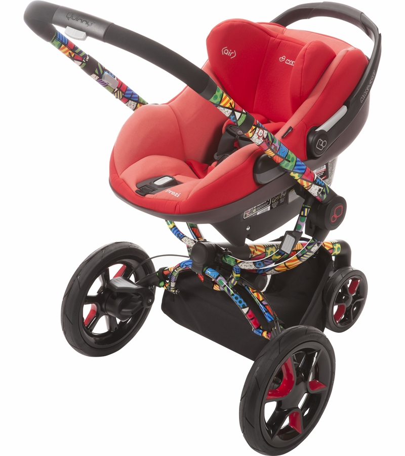 Quinny Buzz Xtra Pushchair In Purple Pace With Maxi Cosi: Quinny Double Stroller Strollers 2017