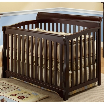 SB2 Florence Crib with Toddler Rail in Espresso
