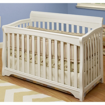 SB2 Florence Crib with Toddler Rail in White