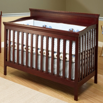 SB2 Katherine Crib with Toddler Rail in Merlot