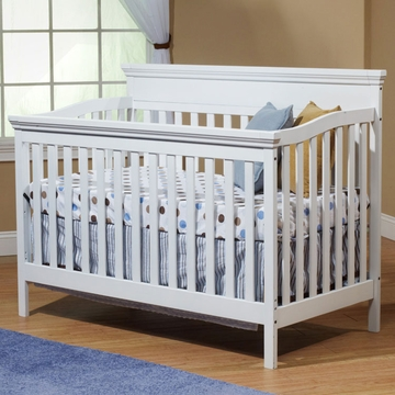 SB2 Katherine Crib with Toddler Rail in White