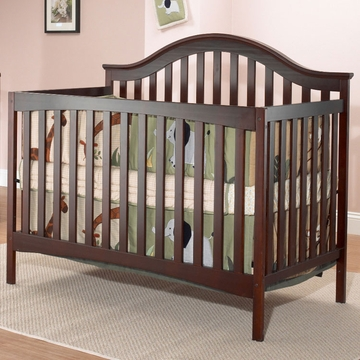 SB2 Lynn Crib with Toddler Rail in Merlot
