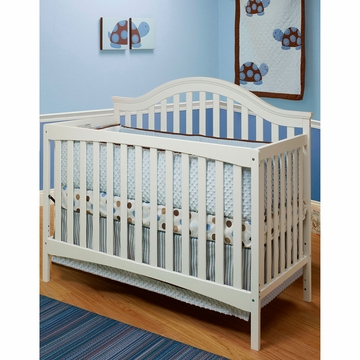 SB2 Lynn Crib with Toddler Rail in White