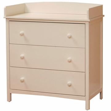 SB2 Simple 3 Drawer Dresser in White