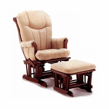 Shermag Sleigh Glider in Natural/Cherry (Ottoman Not Included)