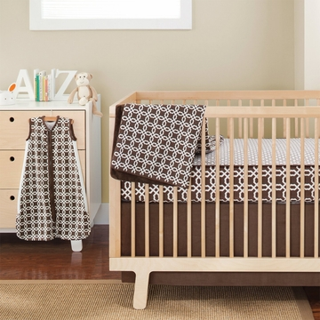 Skip Hop Complete Sheet 4 Crib Piece Set - Chocolate Lattice