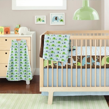 Skip Hop Complete Sheet 4 Piece Crib Set - Elephant Parade