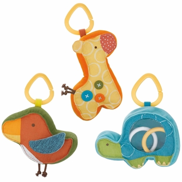 Skip Hop Giraffe Safari Rattle Pal Trio