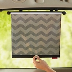 Skip Hop On The Go Style Drive Window Shade 2PK - Tonal Chevron