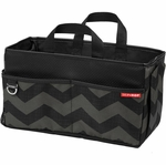 Skip Hop On The Go Style Driven Car Storage Box - Tonal Chevron