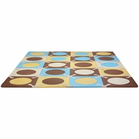 Skip Hop Playspot Interlocking Foam Tiles in Blue / Gold
