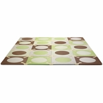 Skip Hop Playspot Interlocking Foam Tiles in Green/Brown