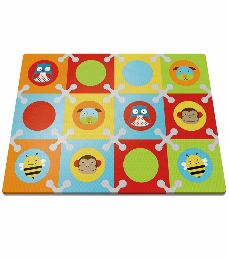 Skip Hop Playspot Interlocking Foam Tiles Zoo Multi