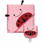 Skip Hop ZOO Hooded Towel & Mitt Set in Ladybug