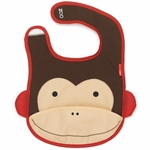 Skip Hop Zoo Tuck-Away Bib - Monkey