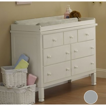 Sorelle Bedford Double Dresser in Gray