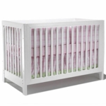 Sorelle City Lights Commuter Convertible Crib White